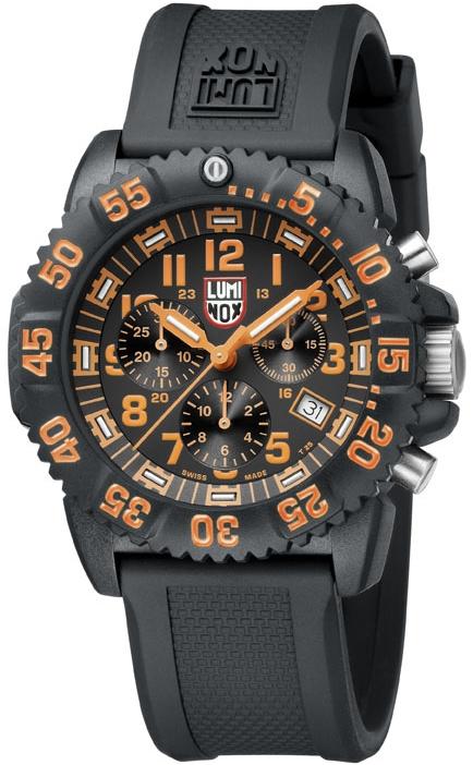 นาฬิกา Luminox รุ่น LUMINOX 3089 Men's Navy SEAL Orange Colormark Chronograph