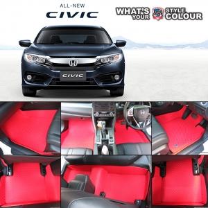 พรมกระดุม Original ชุด Full จำนวน 12 ชิ้น Honda All New Civic FC 2016-2020