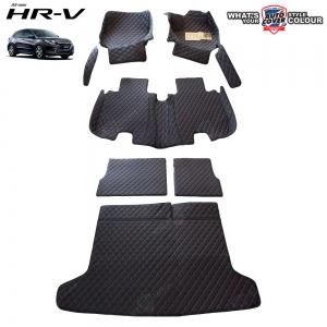 พรมเข้ารูป 6 D Leather Car Mat จำนวน 6 ชิ้น HONDA HRV 2015-2019