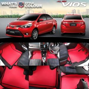 พรมกระดุม Original ชุด Full จำนวน 14 ชิ้น Toyota Vios 14-19