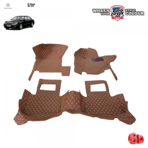 พรมเข้ารูป 6 D Leather Car Mat จำนวน 3 ชิ้น MERCEDES BENZ E CLASS W211