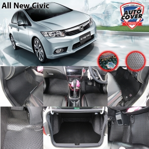 พรมกระดุม Original ชุด Full จำนวน 6 ชิ้น Honda Civic FB 2013-2016