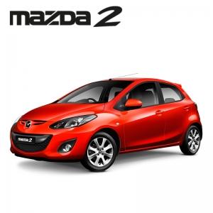พรมดักฝุ่นไวนิล รถ MAZDA 2 รุ่น 4-5 Door ปี 2009-2014 ชุด Full จำนวน 13 ชิ้น