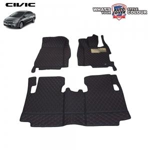 พรมเข้ารูป 6 D Leather Car Mat จำนวน 3 ชิ้น HONDA CIVIC FB 2013-2016