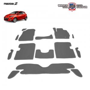 พรมกระดุม Super Save ชุด Full จำนวน 14 ชิ้น MAZDA 2 รุ่น 4-5 Door 2009-2014