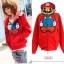 Pre-เสื้อกันหนาวมาริโอ้ สีแดง มีไซด์S,M,L,XL,XXL,XXL thumbnail 1