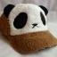 หมวกหมีแพนด้าขนปุย สีน้ำตาลเข้ม thumbnail 2