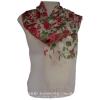 ผ้าพันคอ แฟชั่น(ดอกกุหลาบสีแดง)