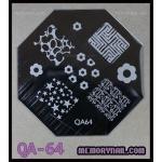 เพลทปั้มลายเล็บ รหัส AQ-64