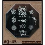 เพลทปั้มลายเล็บ รหัส AQ-45