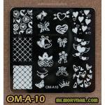 เพลทปั้มลายเล็บ รหัส OM-A-10