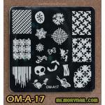 เพลทปั้มลายเล็บ รหัส OM-A-17