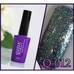 สีเจล QIJIE กากเพชรเข้มข้น รหัส Q-012