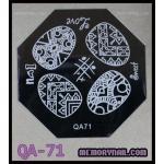 เพลทปั้มลายเล็บ รหัส AQ-71