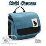 กระเป๋ากล้อง Mirrorless รุ่น Mobi Canvas สำหรับ XA2 GF7 A5100 A6000 EPL7 EM10 NX2000 สีฟ้า