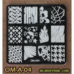 เพลทปั้มลายเล็บ รหัส OM-A-04