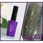 สีเจล QIJIE กากเพชรเข้มข้น รหัส Q-009