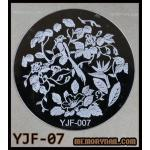 แผ่นปั๊มลายเล็บ รหัส YJF-07