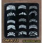 เพลทปั้มลายเล็บ รหัส OM-A-22