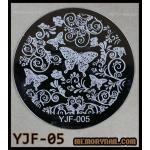 แผ่นปั๊มลายเล็บ รหัส YJF-05