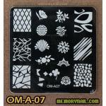 เพลทปั้มลายเล็บ รหัส OM-A-07