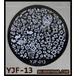แผ่นปั๊มลายเล็บ รหัส YJF-13