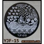 แผ่นปั๊มลายเล็บ รหัส YJF-15