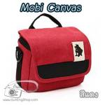 กระเป๋ากล้อง Mirrorless รุ่น Mobi Canvas สำหรับ XA2 GF7 A5100 A6000 EPL7 EM10 NX2000 สีแดง