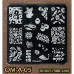 เพลทปั้มลายเล็บ รหัส OM-A-05