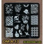 เพลทปั้มลายเล็บ รหัส OM-A-13