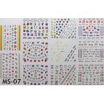 สติ๊กเกอร์ติดเล็บ แผ่นใหญ่ รหัส MS-07