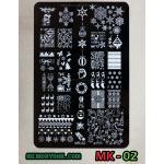เพลทปั๊มลายเล็บ รหัส MK-02