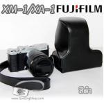 เคสกล้องหนัง XA3 XA2 XA1 XM1 รุ่นหนังเงา Case Fujifilm XA3 XA2 XA1 XM1 สีดำ