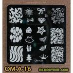 เพลทปั้มลายเล็บ รหัส OM-A-16
