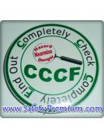 เข็มกลัด CCCF_Completely Check Completely Find out 58mm