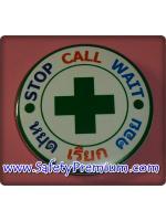 เข็มกลัด Stop Call Wait หยุด เรียก คอย 58 mm