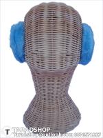 สะเปาหู กันหนาว สีฟ้า (ผู้หญิง)