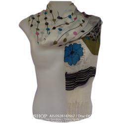 ผ้าพันคอ แฟชั่น(ดอกกุหลาบคละสี)