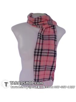 ผ้าพันคอ รับลมหนาว ชาวเหนือ สีชมพูอ่อน