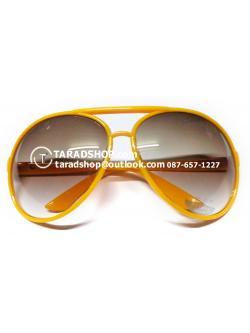 แว่นกันแดด ( สีเลนส์ น้ำตาล ) สีกรอบ เหลืองเข้ม )