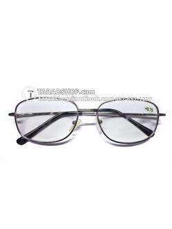 แว่นสายตา ยาว +0.75D ( สีเลนส์ กระจกใส ) สีกรอบ ดำ ) ขา สแตนเลส )