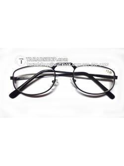 แว่นสายตา ยาว +3.00D ( สีเลนส์ กระจกใส ) สีกรอบ ดำ ) ขา สแตนเลส