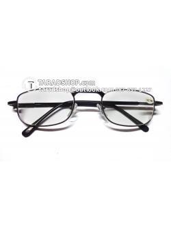 แว่นสายตา ยาว +2.75D ( สีเลนส์ กระจกใส ) สีกรอบ เทา) ขา สแตนเลส