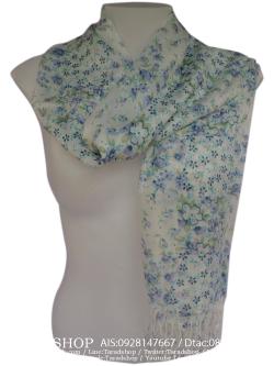 ผ้าพันคอ แฟชั่น(ดอกไม้)