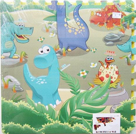 แผ่นรองคลานแบบจิ๊กซอว์ Dinosaurs