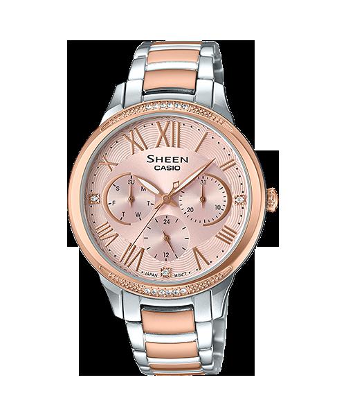 นาฬิกา คาสิโอ Casio SHEEN MULTI-HAND SHE-3058 series รุ่น SHE-3058SPG-4A ของแท้ รับประกัน1ปี