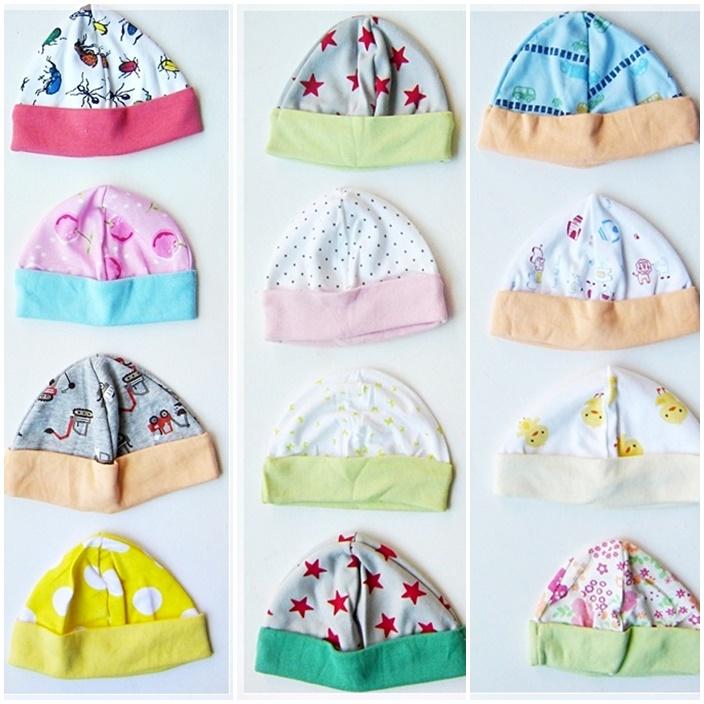 หมวกเด็กอ่อน (แพค 3 ชิ้น)