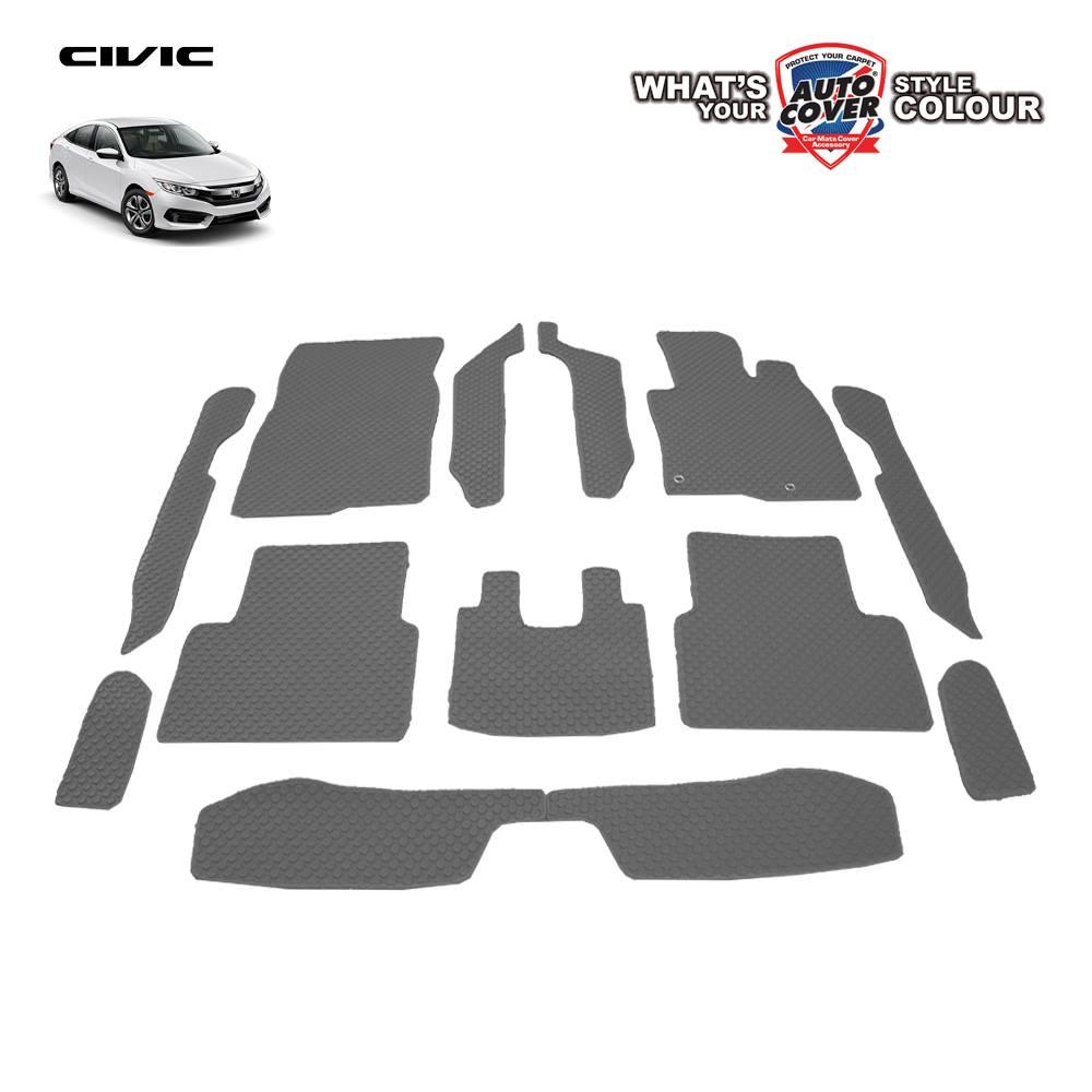 พรมกระดุม Super Save รถ Honda All New Civic FC ปี 2016-2020 ชุด Full จำนวน 12 ชิ้น