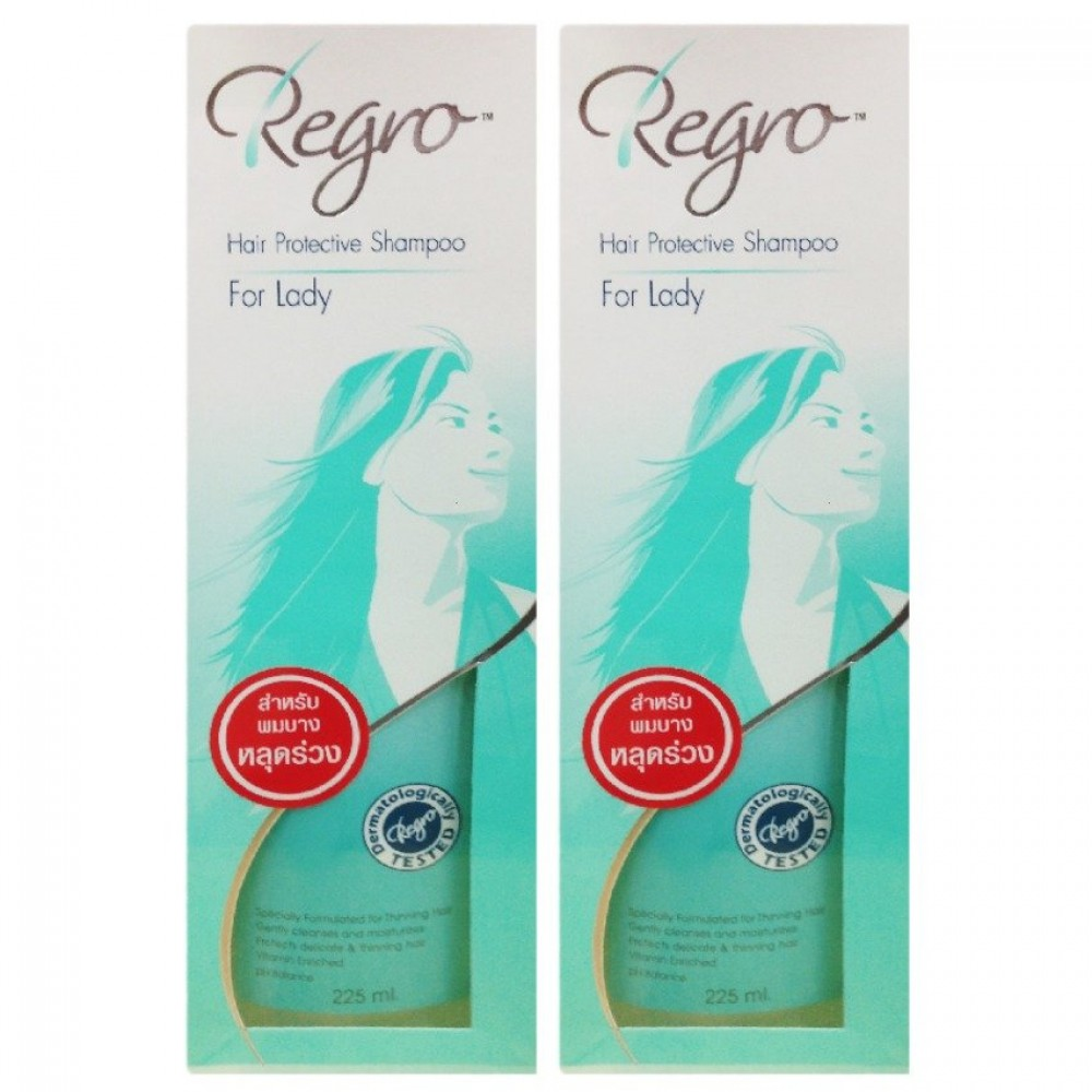 Regro Hair Protective Shampoo for Lady 225 Ml.*2 (แพ็คคู่)