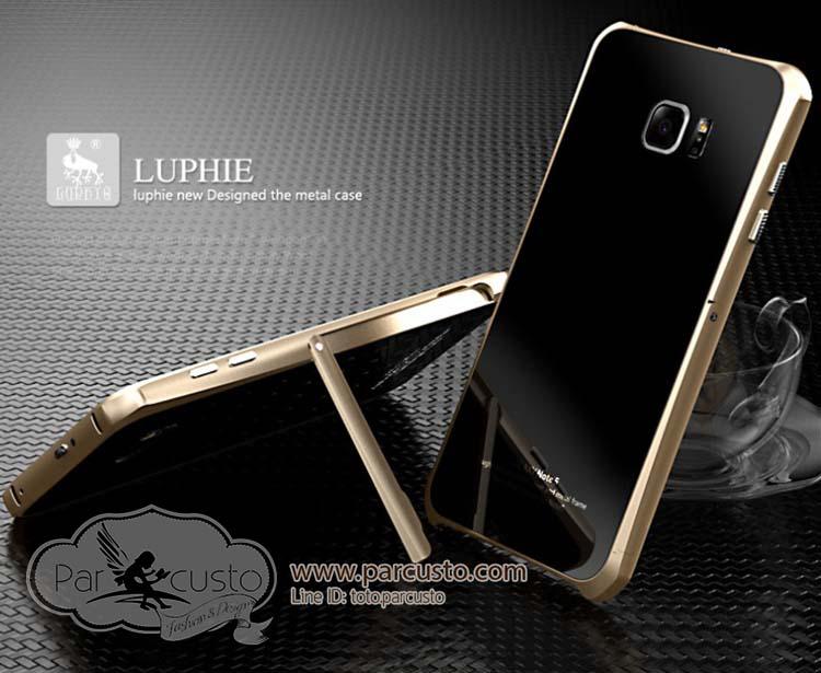 เฟรมอลูมิเนียมหลังกระจก Samsung Galaxy Note 5 [Standing] จาก Luphie [หมด]